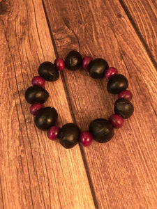 Soap Nut Seed Bracelet Purple