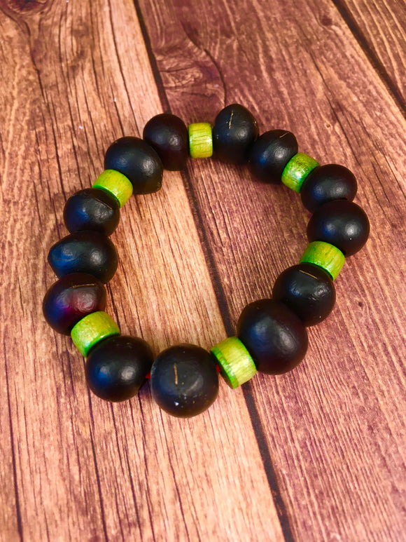 Soap Nut Seed Bracelet Green