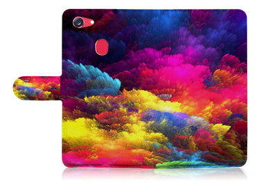 Colorful Cloud Wallet Case Cover For OPPO R11S -- A021
