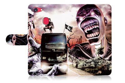 Iron Maiden Wallet Case Cover For OPPO R11S -- A014