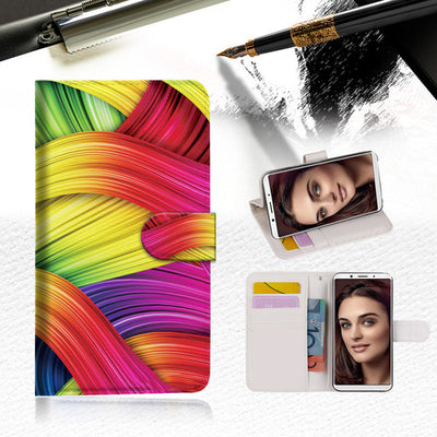 Meaningful Abstract Phone Wallet Case Cover For OPPO R11S -- A020