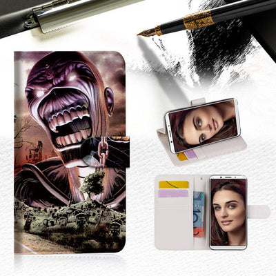 Iron Maiden Wallet Case Cover For OPPO R17 Pro -- A014