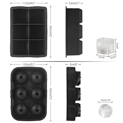 Reusable BPA Free Silicone Ice Cube Molds