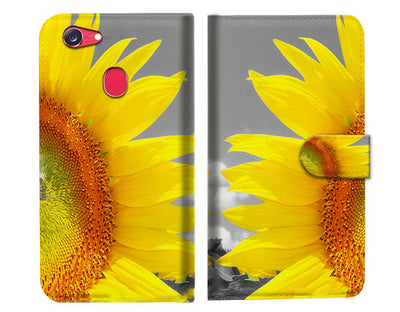 Sunflower Wallet Case Cover For OPPO R15 -- A012