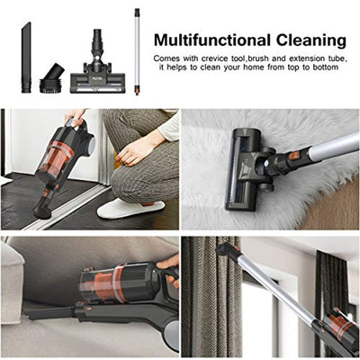 Portable Rechargeable Lightweight Cordless Stick Handheld 2 in 1 Lithium-ion Vacuum Cleaner