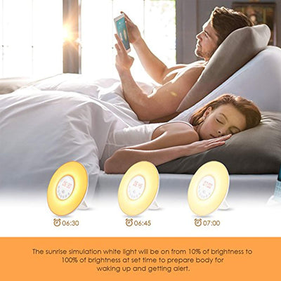 Wake Up Light Alarm Clock Sunrise Simulation Dusk Fading Night Light