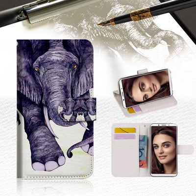 Elephant Wallet Case Cover For OPPO R11S-- A007