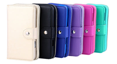 All in One Zip Purse Wallet Leather Case Cover Samsung Galaxy S8 S9 Plus Note 9