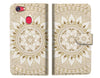 White AZTEC TRIBAL Wallet TPU Case Cover For OPPO R15 -- A006