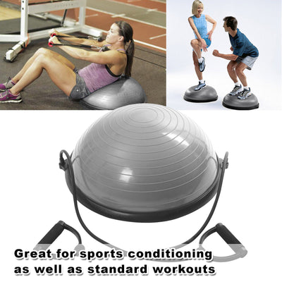 Yoga Bosu Balance Ball Gym Training Exercise Pilates Half Fitness w/ Pump New AU