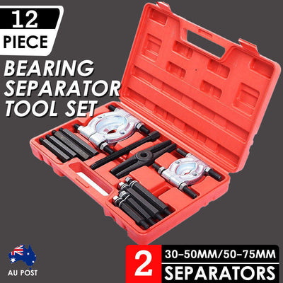 12pcs Bearing Splitter Gear Puller Fly Wheel Separator Set Tool Kit with Box New