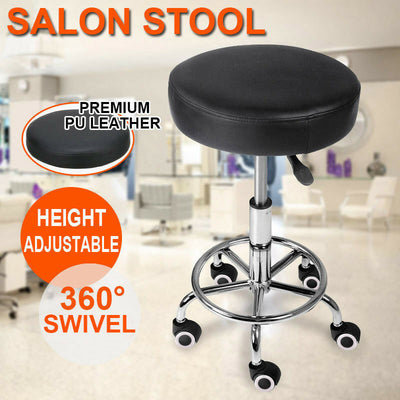 Salon Stool Hairdressing Chair PU Barber Equipment Beauty Swivel Hydraulic Lift
