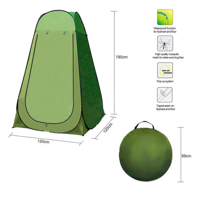 1.9M Pop Up Camping Shower Toilet Tent Outdoor Portable Change Room Shelter AU