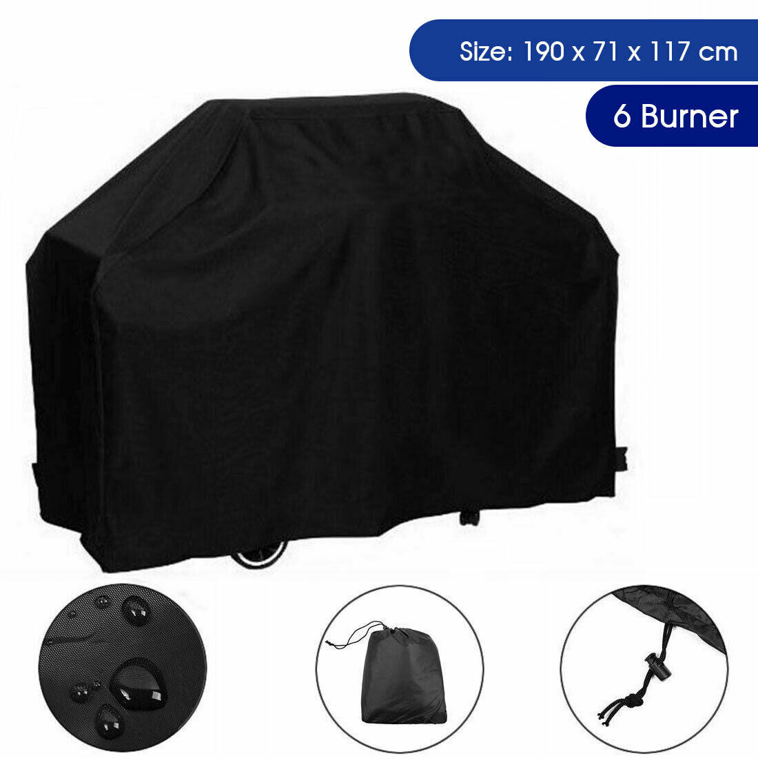 Large Waterproof BBQ Cover 2 4 Burner Gas Charcoal Barbeque Grill Protector 145