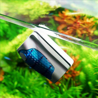 Magnetic Fish Tank Brush Algae Magnet Aquarium Aquatic Cleaner Glass Cleaning
