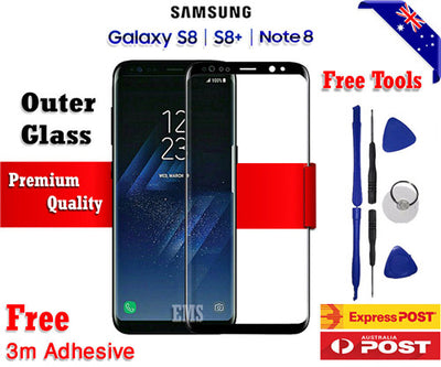 Samsung Galaxy Note 8 Outer Front Glass Lens Replacement Frame