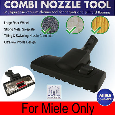 Hard Floor Carpet Combo Tool For Miele 7253830 S2 S4 S5 S6 S700 SWING H1 Vacuum