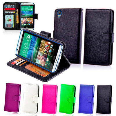 New Wallet Leather Case Cover - HTC Desire 820 820T + Screen Protector