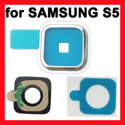 Replacement Camera Lens Glass Cover with Frame For Samsung Galaxy S5 i9600 G900