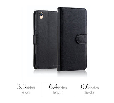 FOR OPPO AX5 A3S R15 R17 PRO F1S A57 R11S A73 Premium Leather Wallet Case Cover