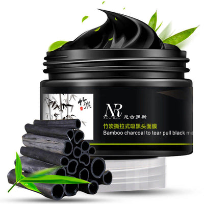 Bamboo Charcoal Facial Peel Off Black Mask Blackhead Clean Mud Remover