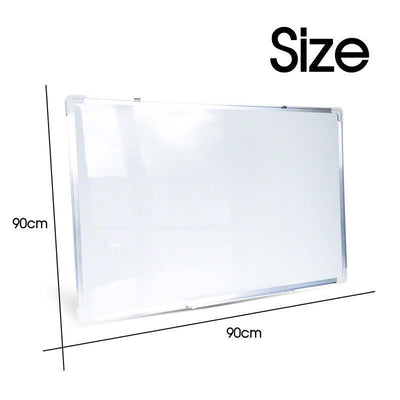 Magnetic Portable White Board Commercial 90 x 60cm Office FREE Marker Eraser