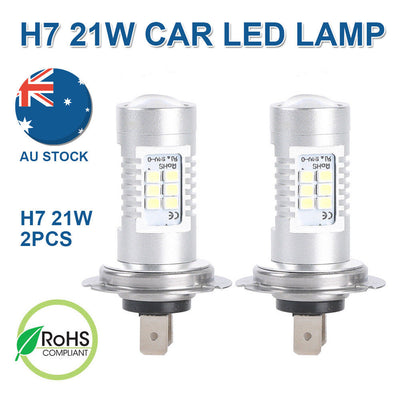 12V H7 21W Xenon White 6000k Car Head Light LED Lamp Globes Bulbs