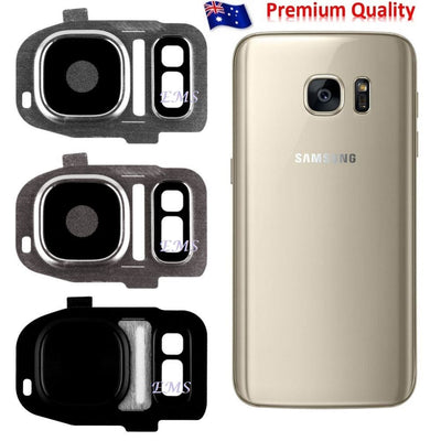 For Samsung Galaxy S7 | S7 Edge Camera Frame Glass Lens Cover Replacement