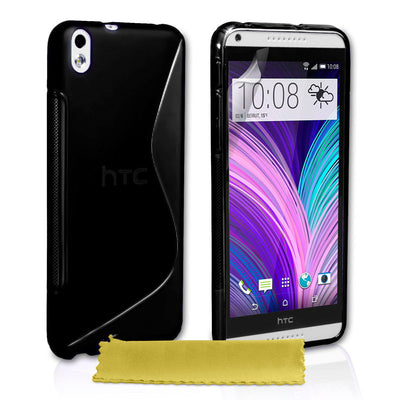 S CURVE GEL TPU Jelly CASE COVER FOR Telstra HTC Desire 816