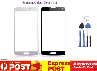 Samsung Galaxy Note 5 4 3 2 Front Outer Glass Lens Screen Kit Replacement Tools