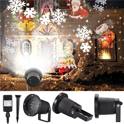 Snowflake LED Laser Projector Light Christmas Xmas Party Outdoor Landscape Lamp