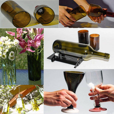 Glass Bottle DIY Cutter Wine Bottles Jar Cutting Machine Recycle Tool Set