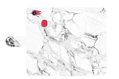 Marble Shape Stone Wallet TPU Case Cover For OPPO R15 Pro -- A029