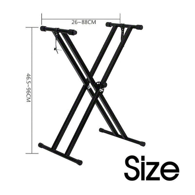 Adjustable Folding X Type Double-Braced Keyboard Stand Professional Height