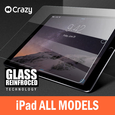 Tempered Glass Screen Protector for iPad 6 5 4 3 2 Air 1 Mini Pro 9.7 12.9