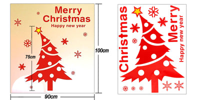 Christmas Tree Xmas Colourful home stickers wall Decal Removable Vinyl Window