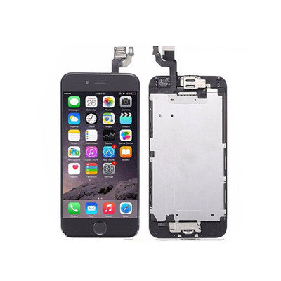 for iPhone 6 Black LCD Touch Screen Digitizer Complete with Camera Home Button