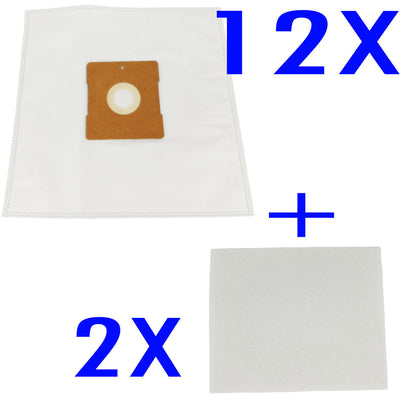 12 X Vacuum Cleaner Bags + 2 Filters For Hoover HOTSHOTZ VC2030 PERFORMER Plus