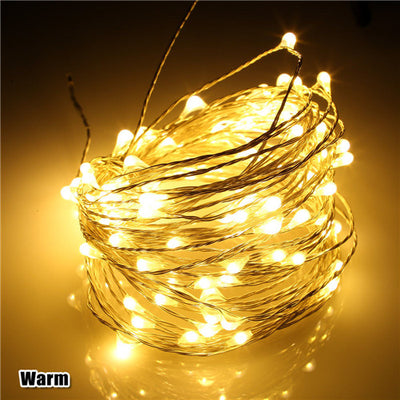 5-20M USB LED Copper Wire String Fairy Lights Party Home Garden Decor Warm White