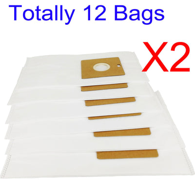 12 X Synthetic Bags For Nilfisk Action Plus PetVac A100 A200 A300 A400 Cleaner