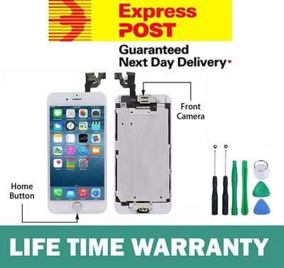 for iPhone 6 White LCD Touch Screen Digitizer Complete with Camera Home Button