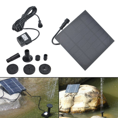 Solar Powered Panel Fountain Pond Pool Water Garden Watering Pump Kit 150L/H UK