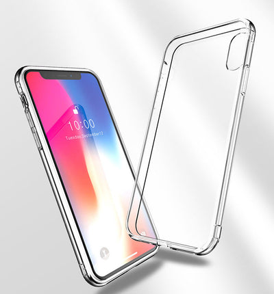 iPhone XS Max XR REAL GLASS Shockproof Case Hybrid Invisible Clear for Apple