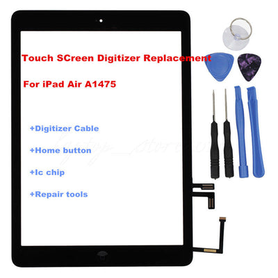 iPad Air 5 A1475 Touch Panel Screen Glass Lens Digitizer Replacement+IC Chip