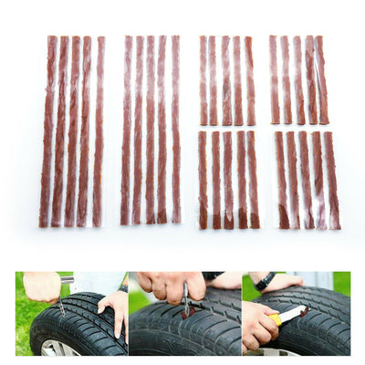 52PCS Tyre Puncture Repair Kit Recovery Heavy Duty Offroad 4WD Tool Plugs Tube