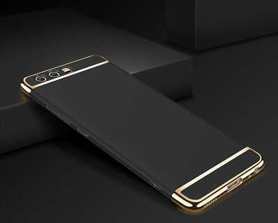 Luxury Electroplating 3in1 Stylish Protective Case Cover For Huawei P10 P10 Plus