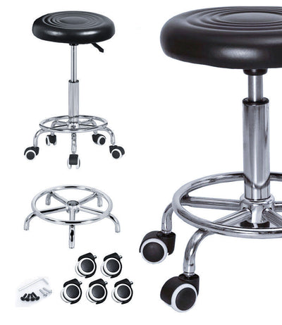 Salon Hairdressing Round Chair PU Swivel Lift Stool Barber Massage SGS AU Stock