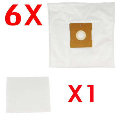 6X Vacuum Cleaner Bag + 1X Filter For Hoover Ide Line Sirocco 740.048 740.049