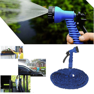 50Ft/15M Pocket Self Expanse Expandable Flexable Stretch Magic Water Garden Hose