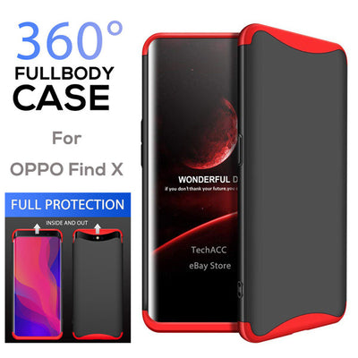 OPPO Find X Case, Dual Armor Three in One Design 360 Protection Hard PC Case